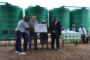 Rainwater Harvesting Project hand-over